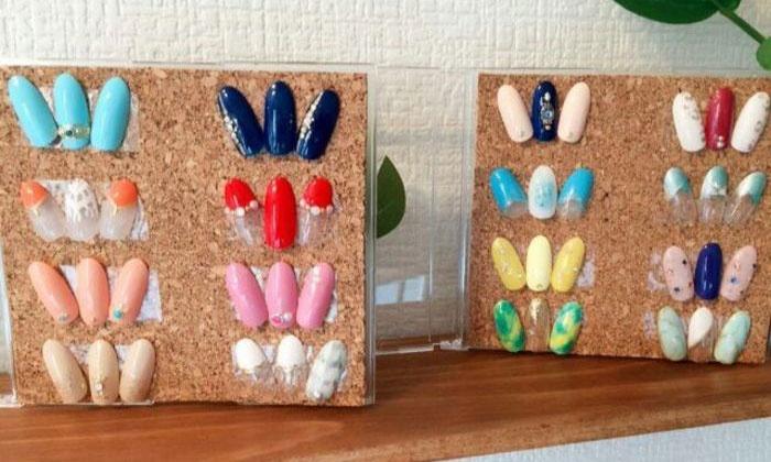 Nail salon ハピアス - 京都市伏見区: ハンドorフットをお好みで。約100種類のデザインをご用意≪選べるジェルネイル+アート2本+オフ/他1メニュー≫5枚まで利用可@Nail salon ハピアス