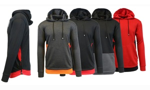 Men's French-Terry Hoodie with Contrast Trim