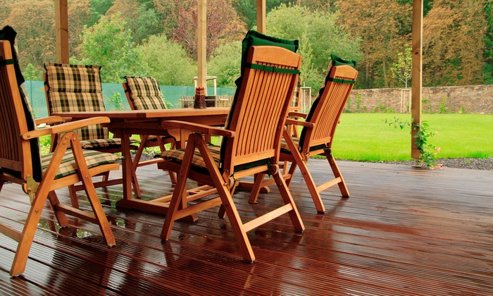 Under Pressure  Services LLC - Arrowhead Trails: $249 for Deck Pressure Wash & Stain for Up to 200 Sq. Ft. from Under Pressure Services LLC ($550 Value)