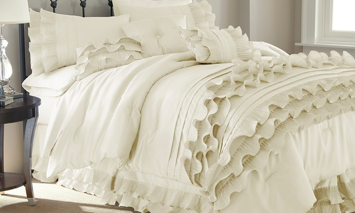 Neutral Comforter Sets 8 Piece Groupon Goods