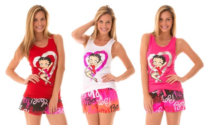 Betty Boop Knit Sleepwear Short Set: Betty Boop Knit Sleepwear Short Set. Multiple Options Available. Free Returns.