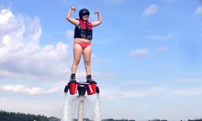 We Deliver Watersports - Westford: 30-Minute Onsite Flyboard Lesson from We Deliver Watersports (Up to 63% Off). Two Options Available.