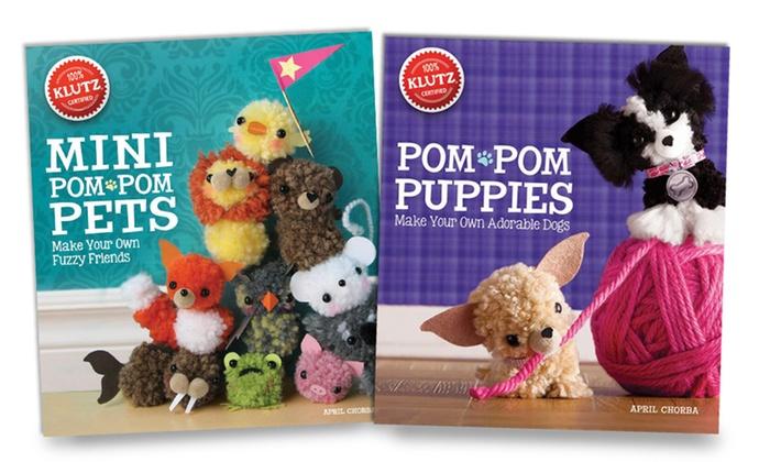 Klutz pompom crafts 2 book set groupon goods for Pom pom puppy craft