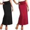Women's Long Fold-Over Cotton Maxi Skirt