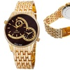 August Steiner Men's Dual-Time Swiss Watch