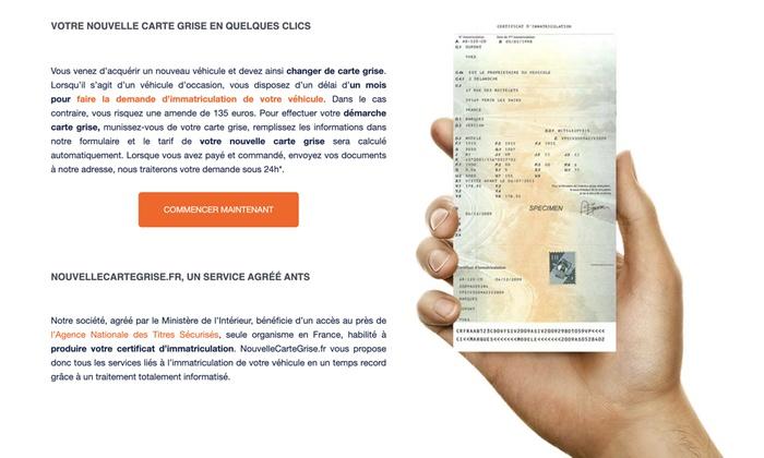 nouvelle carte grise en ligne Nouvelle carte Grise   Sireba jusqu'à 59%   Paris 7e, 8e, 16e, 17e