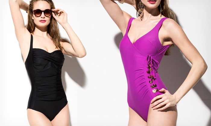 Ocean Jewel Women's One-Piece Swimsuits: $24.99 for an Ocean Jewel Women's Swimsuit ($88 List Price). 3 Styles and Multiple Colors Available. Free Shipping.