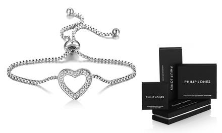 Pulsera amistad bañada en oro blanco con cristales de Swarovski® desde 9,99 € (hasta 83% de descuento)