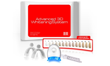 $16.99 for an Advanced 3D Teeth-Whitening Kit with Lifetime Gel Refills ($149 Value)