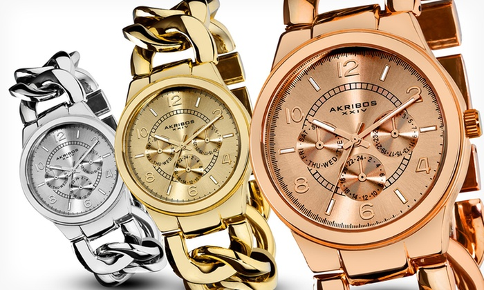 Akribos XXIV Women's Watches: Akribos XXIV Women's Watches (Up to 89% Off). Multiple Designs Available. Free Shipping and Returns.