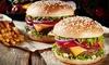 Burger z dodatkami dla 2 osób