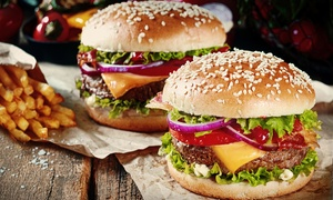 Casbah Roadhouse and Family Restaurant: Burger Meal from R79.90 for Two at Casbah Roadhouse and Family Restaurant (43% Off)