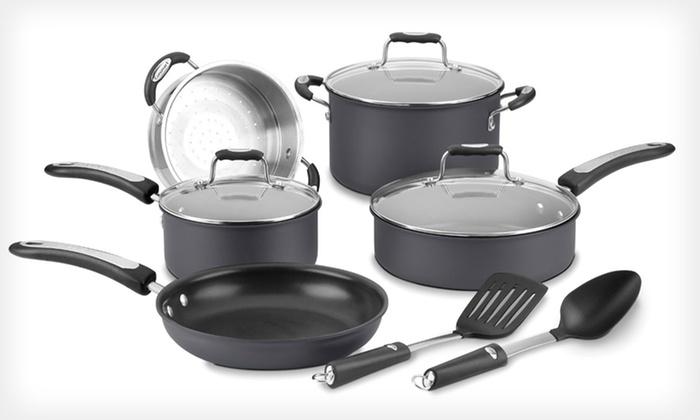 Cuisinart 10 Piece Cookware Set Groupon Goods
