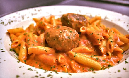 $25 Groupon to Georgios Pizza and Pasta - Georgios Pizza and Pasta in Rochester