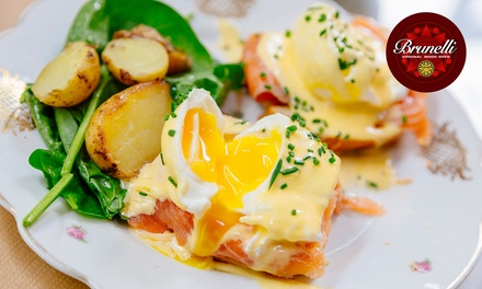 Gourmet Breakfast with Drink:  One ($12), Two ($24) or Four People ($48) at Cafe Brunelli Glynde (Up to $99.20 Value)