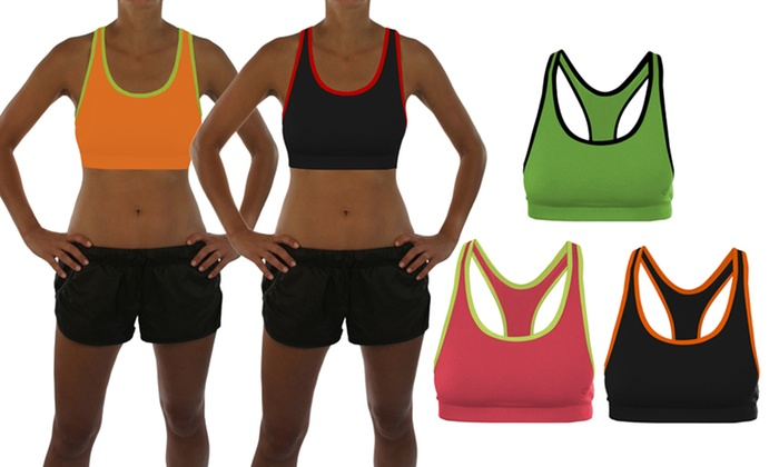 GameTime Ladies' Two-Toned Sport Bras 3-Pack: Three-Pack of GameTime Ladies' Two-Toned Sport Bras. Multiple Options Available.
