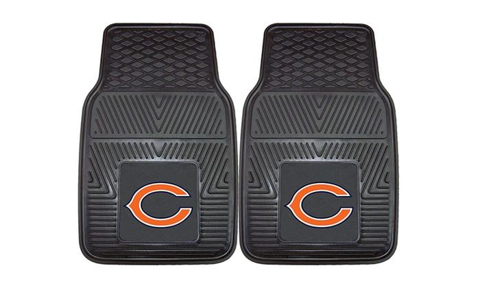 Chicago Bears 2-Piece Heavy-Duty Vinyl Car Mat Set: Chicago Bears 2-Piece Heavy-Duty Vinyl Car Mat Set