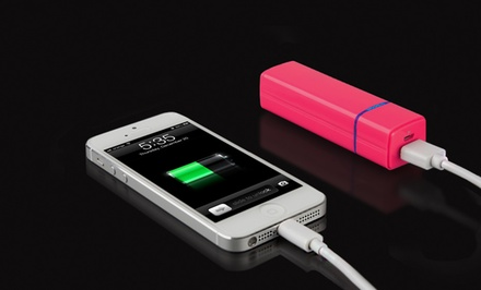 groupon daily deal - Merkury Innovations 2,000 mAh Portable Smartphone Charger in Black, Pink, or White. Free Returns.