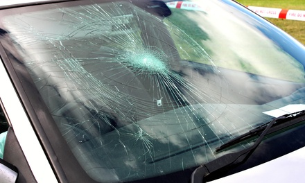 WindshieldChip Repair or WholeWindshield Replacement from Go Glass (Up to 71% Off)