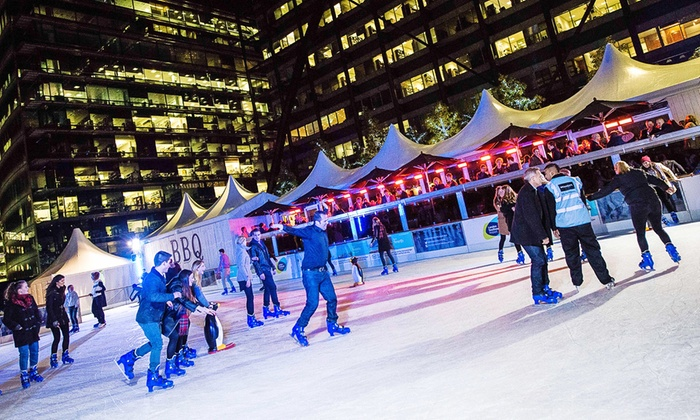 Broadgate Ice - Broadgate Ice: Ice Skating For Two for £12.50 With Skate Hire at Broadgate Ice Rink (Up to 50% Off)