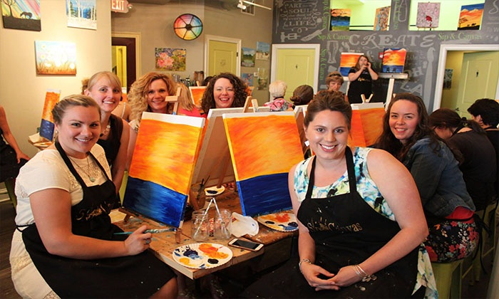 Sip & Canvas - Glens Falls: Two-Hour Painting Class for Two or Four at Sip & Canvas (Up to 36% Off)