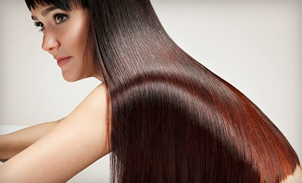 Keratin Express Treatment with Option for Haircut at Colourful Creations Hair Studio (Up to 52% Off)