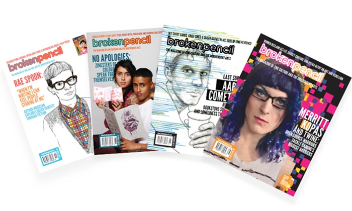 broken pencil magazine - Toronto (GTA): One Year Print, Digital, or Print and Digital Subscription to Broken Pencil Magazine (Up to 50% Off)