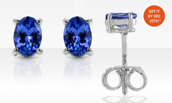 Genuine Tanzanite Stud Earrings: Genuine Tanzanite Stud Earrings. Multiple Sizes Available. Free Returns.