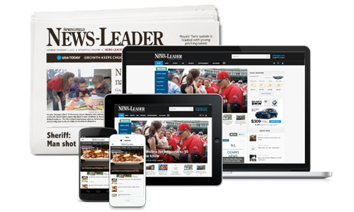 Springfield News-Leader: 26- or 52-Week Subscription to the Sunday and Thursday Edition of The Springfield News-Leader (Up to 81% Off)