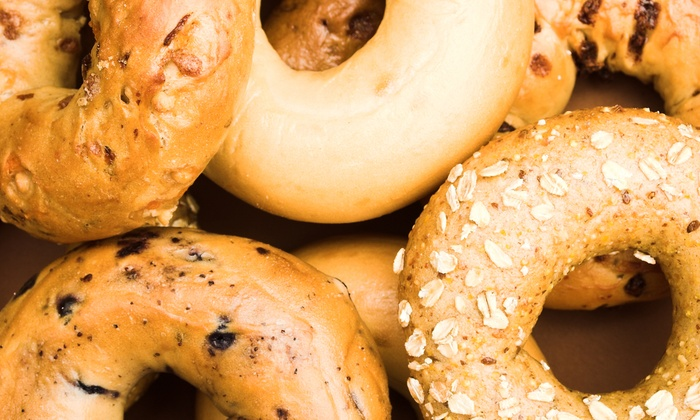 Brownstone Bagel Co. - South River: $15 for Punchcard Good for Five Bagels with Cream Cheese & Coffee at Brownstone Bagel Co. ($25 Value)