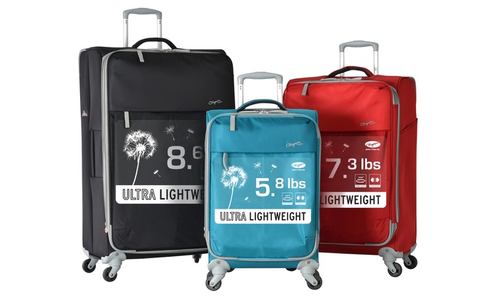 Ultra-Lightweight Luggage Set | Groupon Goods