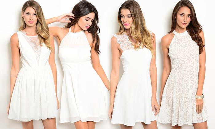 1e627892b3fdc Winter White Cocktail Dresses | Groupon Goods