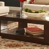 Topline Furniture Mahogany-Finish Cocktail Table
