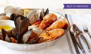 Caffe Regatta Oyster: Seafood Meal with Wine for Two or Four at Caffe Regatta Oyster (Up to 60% Off)