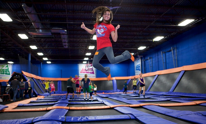 Sky Zone - Multiple Locations: $15 for One Hour of Trampoline Time and SkySocks for Two at Sky Zone ($28 Value), Valid for Walk-Ins