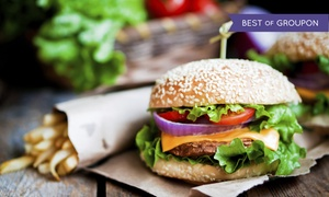 Biff Buzby's Burgers: Burgers and Sides for Two or Four at Biff Buzby's Burgers (38% Off)