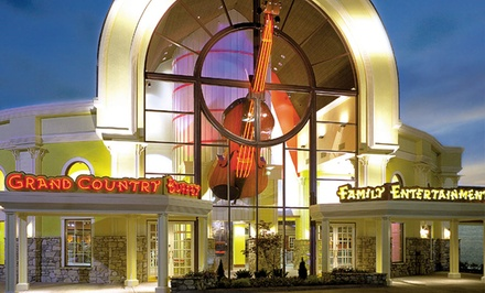 Stay with Family-Fun Package at Grand Country Inn in Branson, MO. Dates into May 2015 Available.
