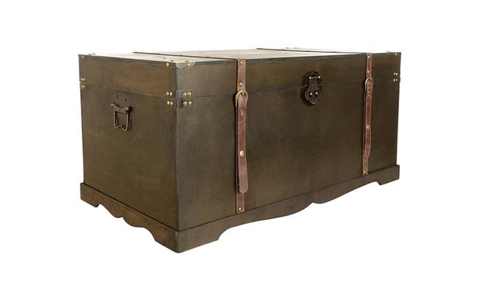 coffre de rangement vintage groupon. Black Bedroom Furniture Sets. Home Design Ideas