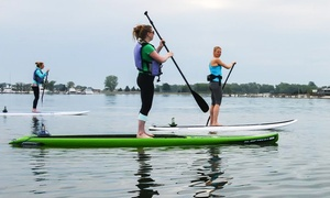 Paddleworks at Harborside Marina: SUP Rental or SUP Yoga or Boot Camp at Paddleworks at Harborside Marina (Up to 50% Off). Four Options Available.