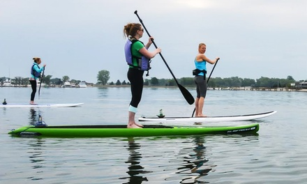 SUP Rental or SUP Yoga or Boot Camp at Paddleworks at Harborside Marina (Up to 50% Off). Four Options Available.