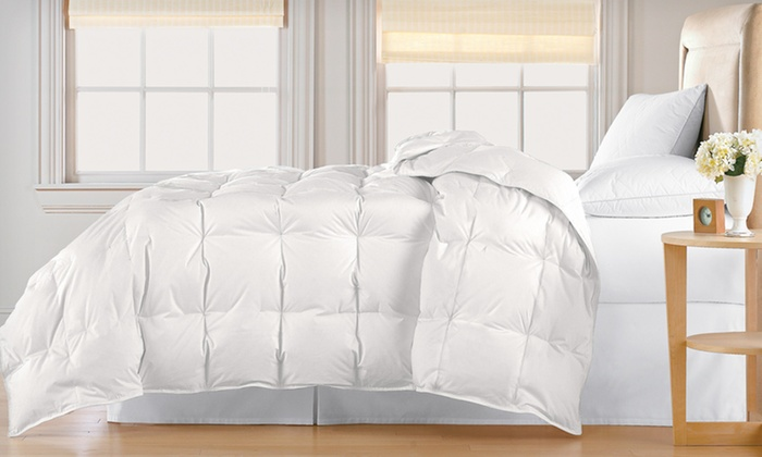 All Seasons White-Down Comforter: All Seasons Down Comforter (Up to 66% Off). Multiple Colors Available. Free Shipping and Returns.