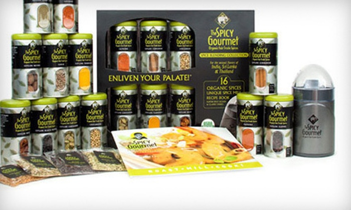 The Spicy Gourmet: $15 for Organic, Fair Trade Spices and a One-Year Spice Membership at The Spicy Gourmet ($97.97 Value)