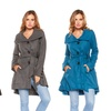 Women's Flared Button-Down Coat