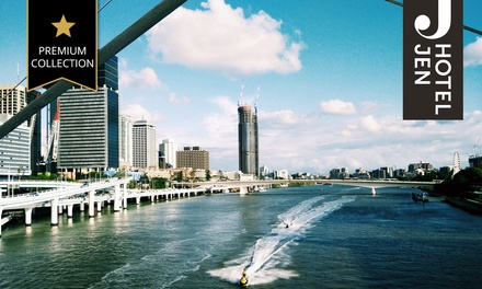 Brisbane: Up to Three Nights for Two with Late Check-Out and Options for Breakfast and Wine at Hotel Jen By Shangri-La