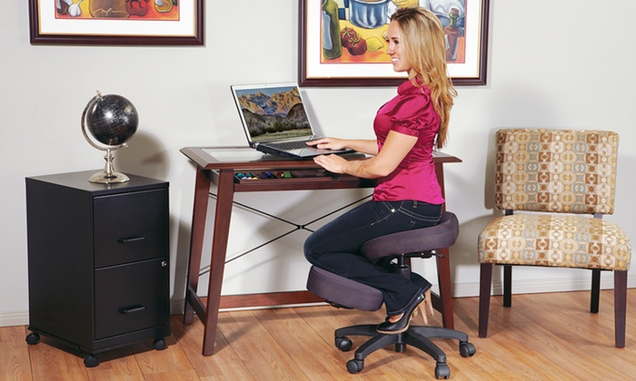 ergonomic kneeling office chair | groupon goods