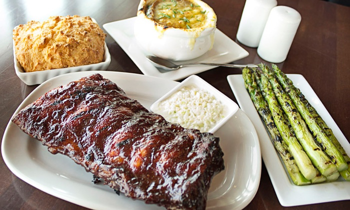 Carson's Ribs - Milwaukee - Downtown Milwaukee : $69 for Dinner with Dessert and Drinks for Two at Carson's Prime Steaks & Famous Barbecue