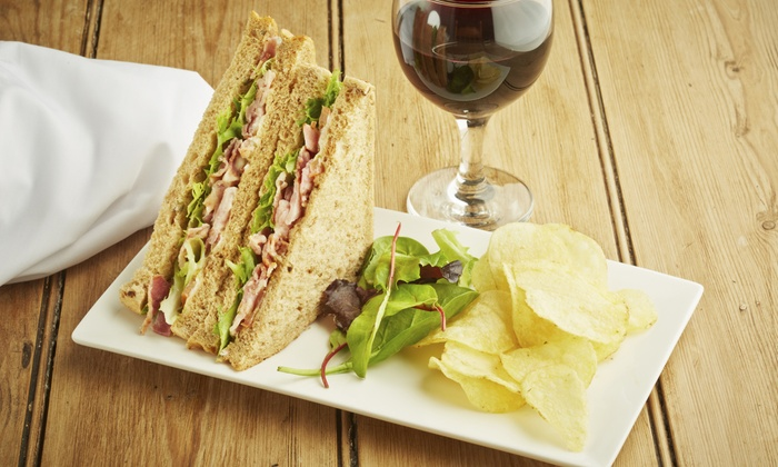 Caffe' Apropos - Harrison West: Café Food and Drinks or a Panini Meal for Two with Wine or Beer at Caffe' Apropos (Up to 35% Off)