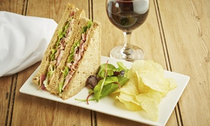 Caffe' Apropos: Café Food and Drinks or a Panini Meal for Two with Wine or Beer at Caffe' Apropos (Up to 35% Off)