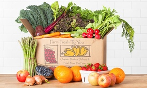 Farm Fresh To You: $17 for One Box of Delivered Organic Produce from Farm Fresh To You ($33 Value)