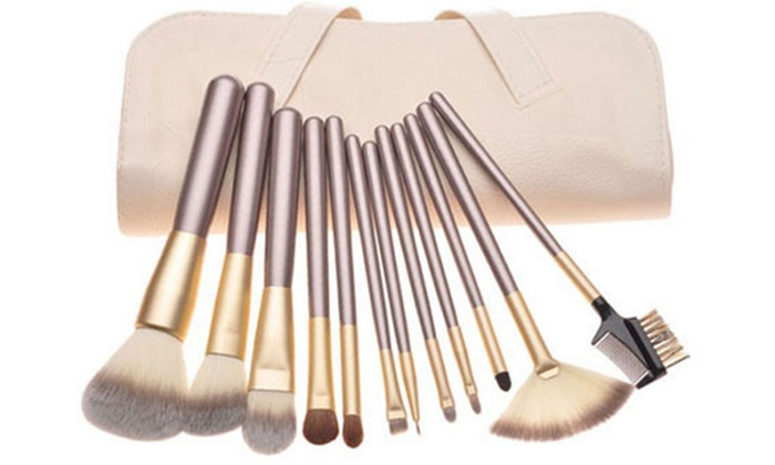 Champagne Makeup Brush Set (12-Piece)